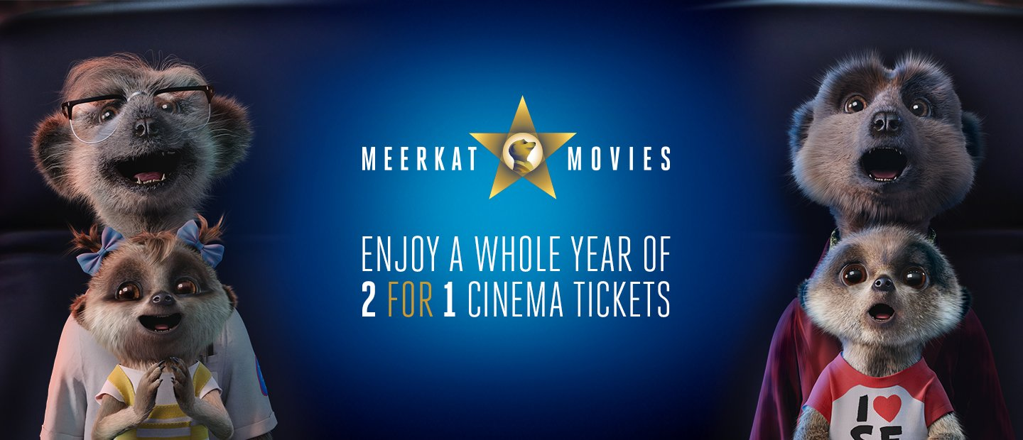 Meerkat Movies Enjoy a whole year of 2 for 1 Cinema Tickets