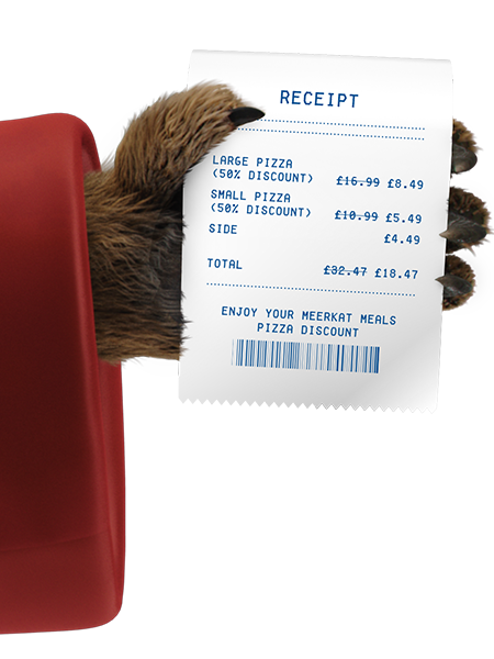 A picture of Aleksandr holding a receipt.