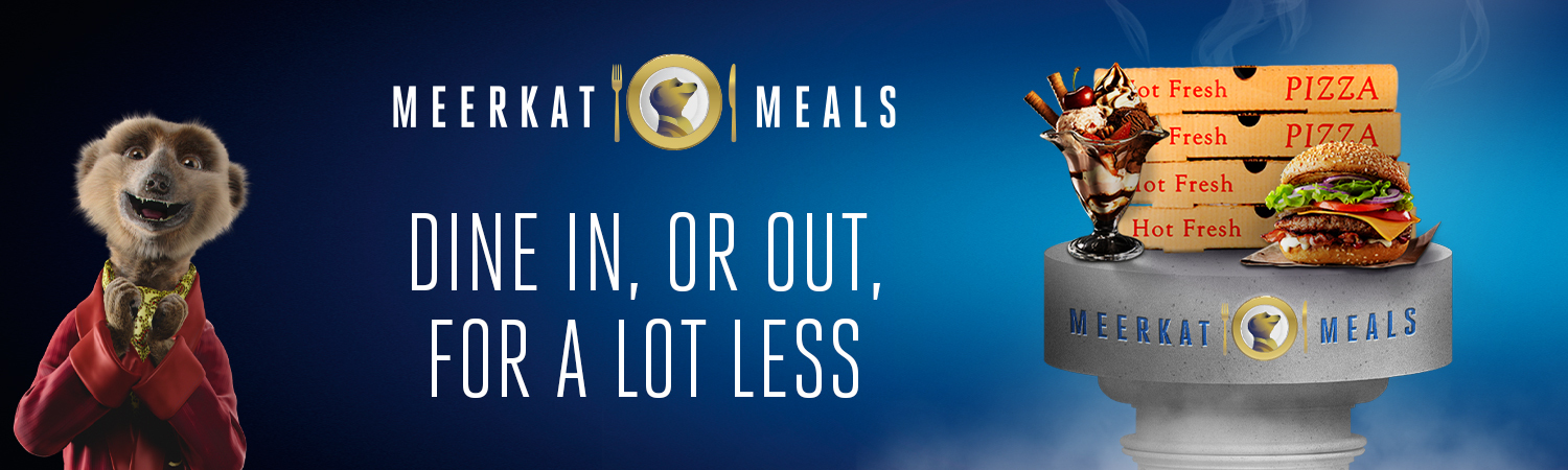 Meerkat Meals. Dine in, or  out, for a lot less