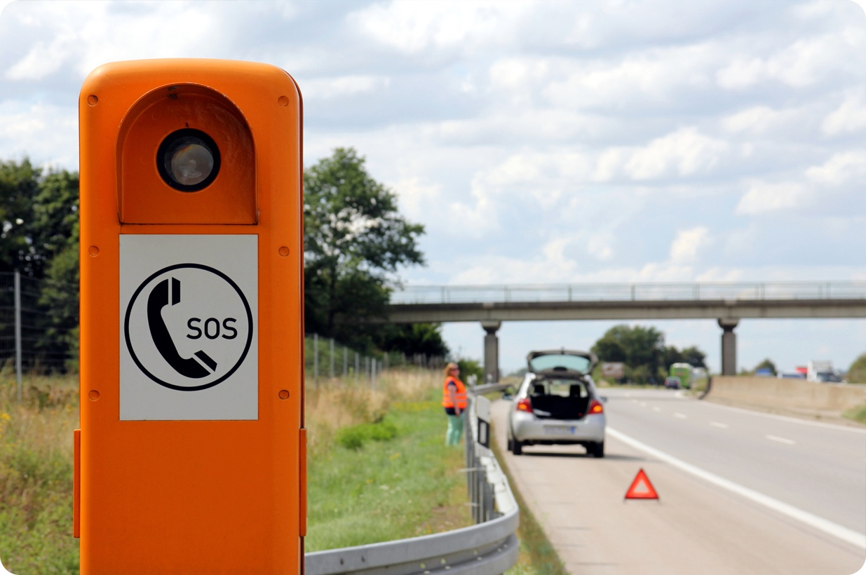 If you break down on the motorway, it's safer to stay in your vehicle