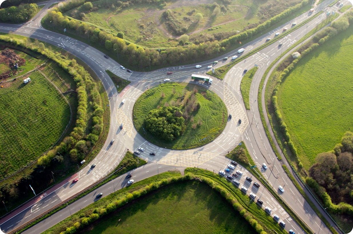 It's illegal to go around a roundabout three times