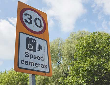 30 speed camera road sign