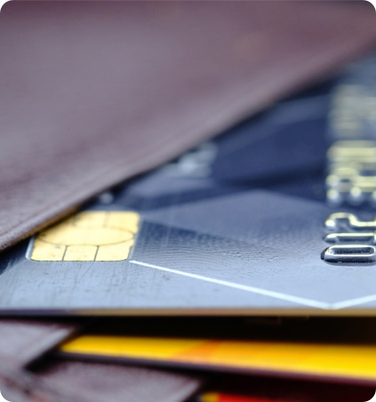 Credit cards in a wallet