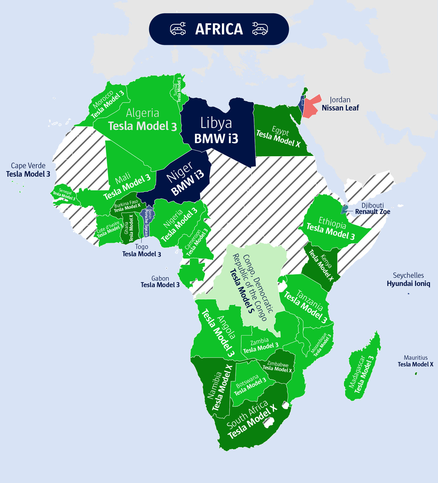 An image showing Africa's electric vehicles.