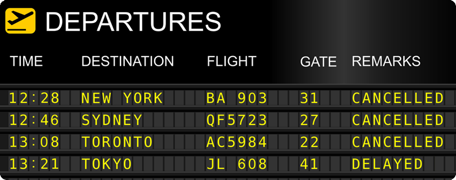 Departure times