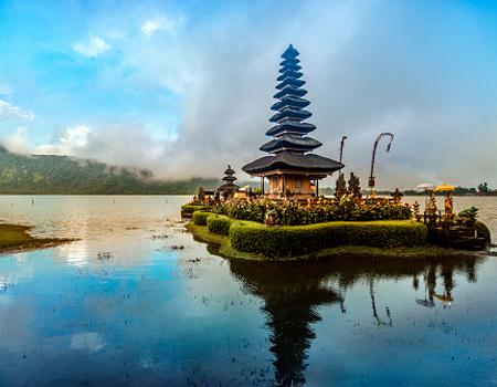 Bali building on the water