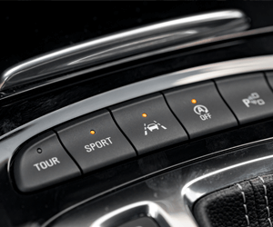 Car panel with car technology buttons