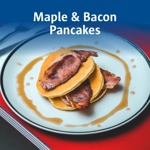 Maple and bacon pancakes.