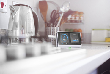 Smart meter on a counter top