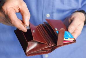 Wallet full of cards