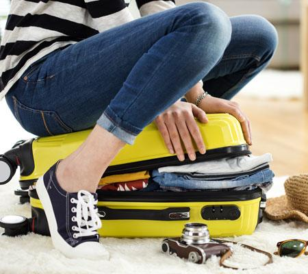 Mitting everything into a suitcase