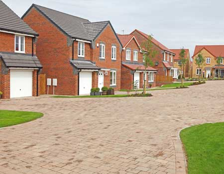 Culdesac of new build houses