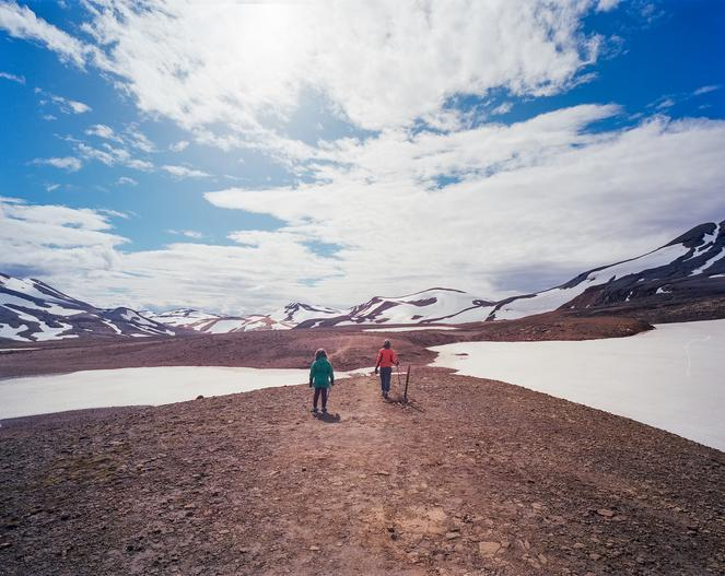People hiking in Iceland