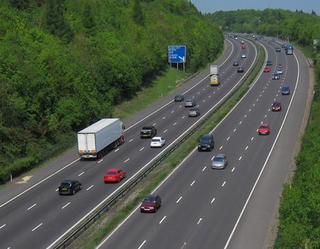 An image of the motorway.