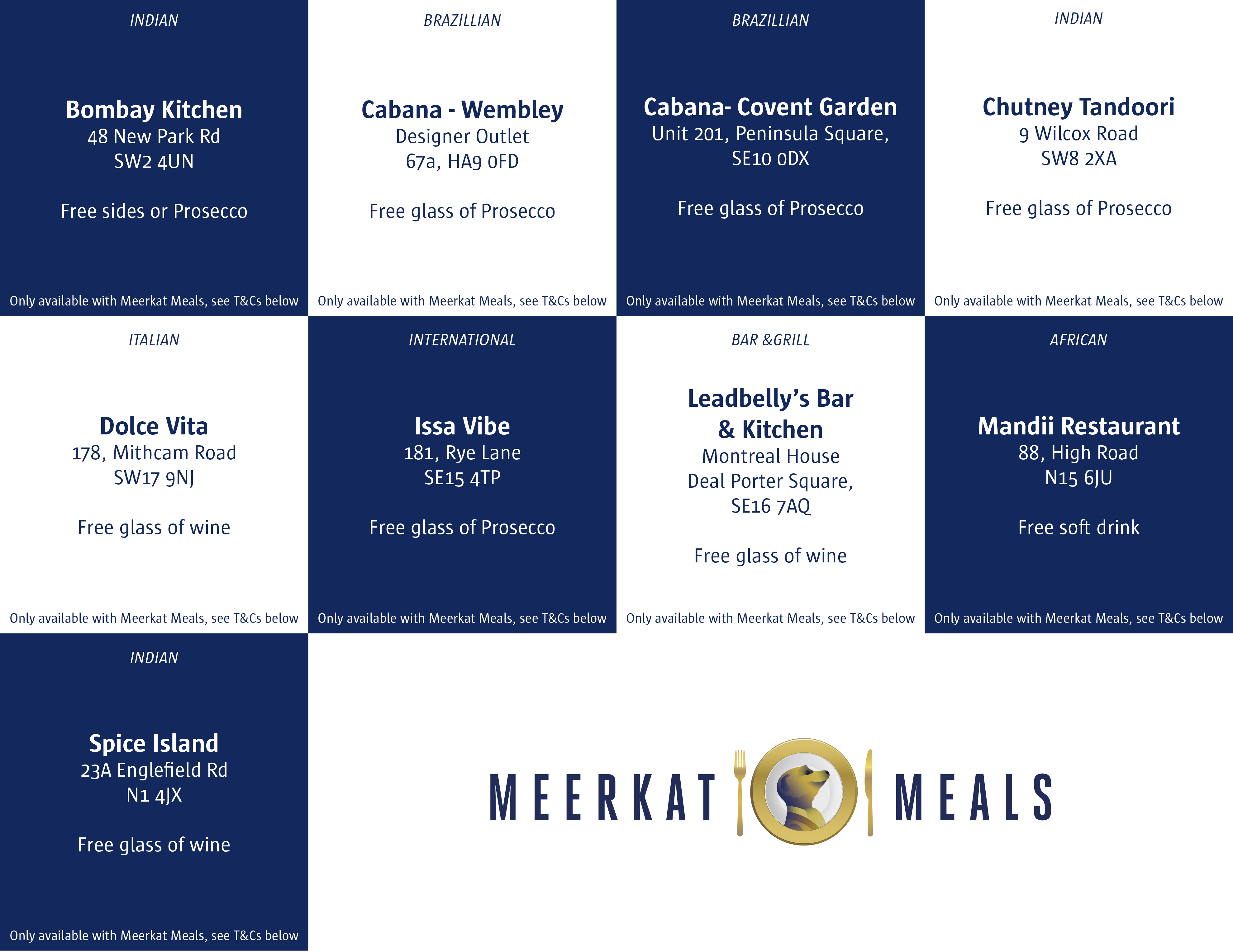 London meal offers for Independents Day.