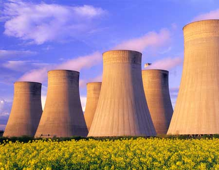 Nuclear powerplant in the countryside
