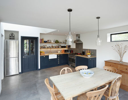 Picture of a house and kitchen
