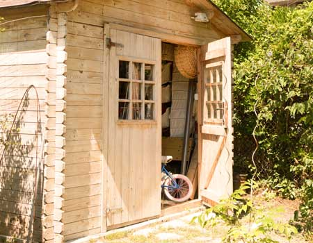 Shed in the garden