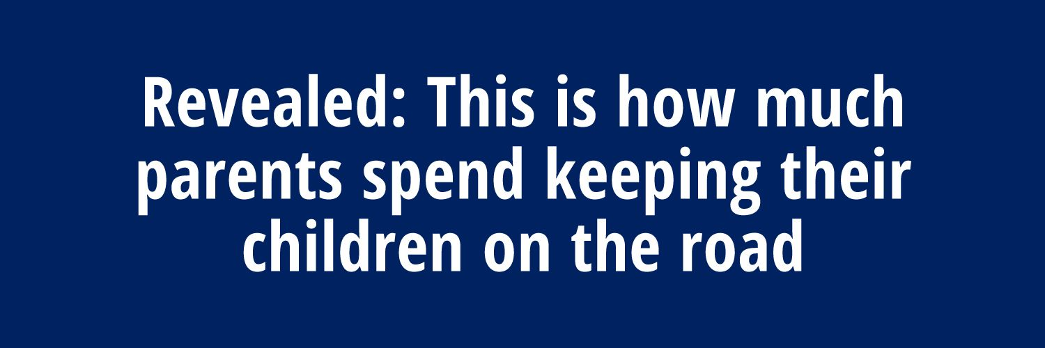 A header that informs customers that the campaign is about how much parents spend keeping their children on the road.