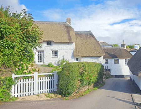 Houses with thached roofs