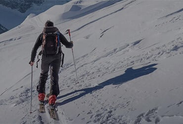 An image of a skier on a mountain.