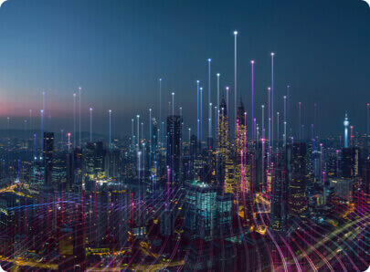 An image of a city with fast broadband.
