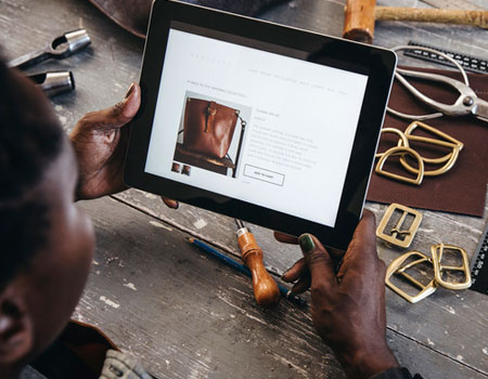 man working on device in workshop