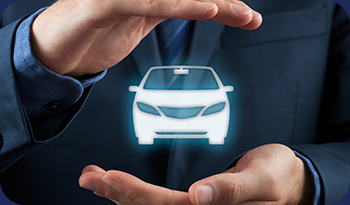 An individual having their hands around a hologram of a car | Compare the Market