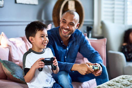 Gaming father and son