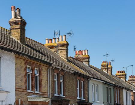 Line of houses in UK
