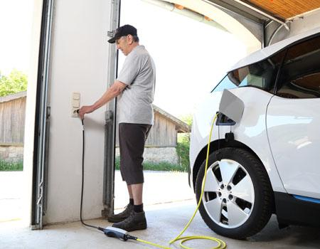 Charging electric car at home