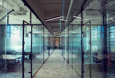 inside of an office building