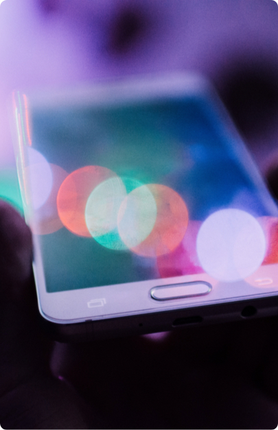 Blurred image of a smartphone