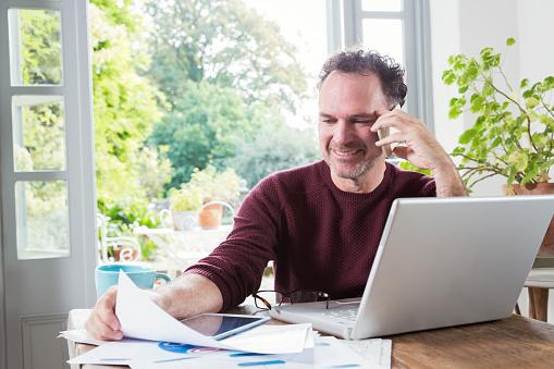 Man researching joint accounts