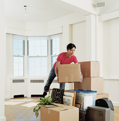 Person moving home