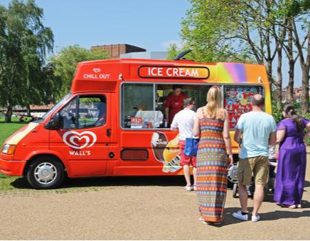 Red ice cream van