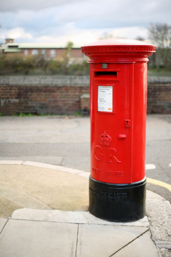 Post box for posting driving licences for renewal