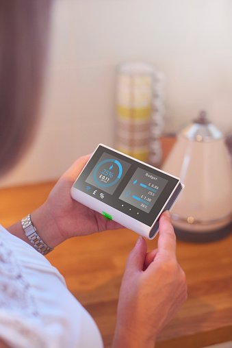 Smart meter in kitchen