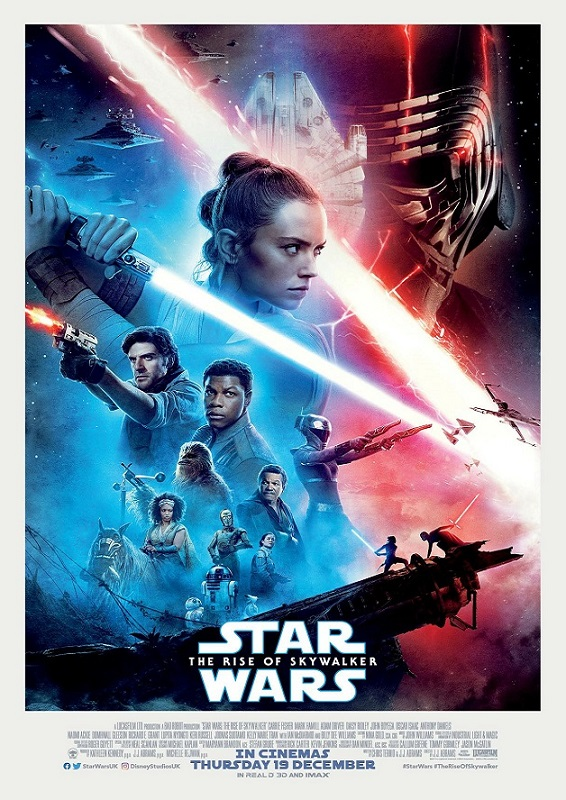 Star Wars poster with the main characters