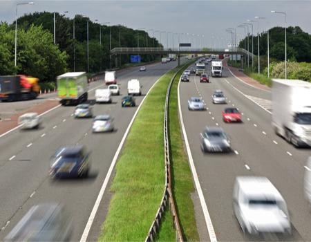 People driving on the motorway