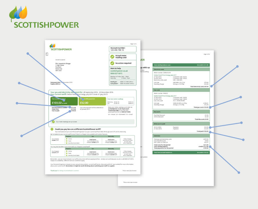 example of an Scottish Power energy bill